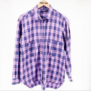 Patagonia Plaid Pocket Long Sleeve Button Up Shirt